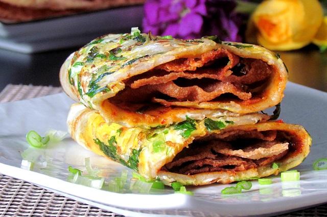 Bánh tráng Jian bing là bánh crepe của Trung Hoa