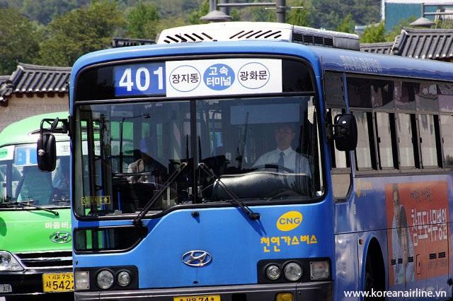 Xe Bus là một trong số các phương tiện được sử dụng phổ biến ở Hàn