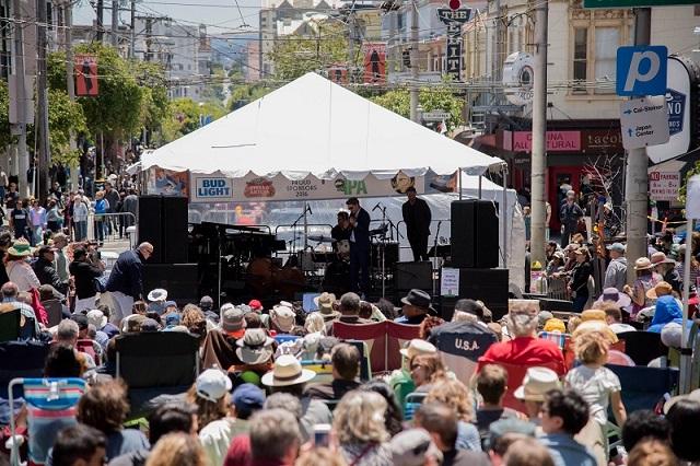 Lễ hội nhạc Jazz đường phố thu hút du khách ở San Francisco vào tháng 7