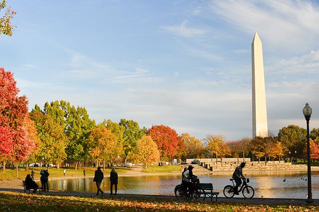 Đài tưởng niệm Lincoln tuyệt đẹp vào mùa thu