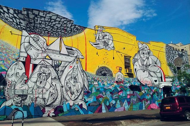 New York là nơi khỏi nguồn của phong trào nghệ thuật đường phố phóng khoáng