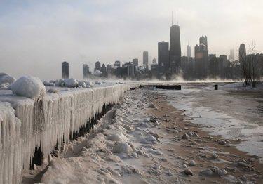Ngắm nhìn khung cảnh mùa đông tuyệt đẹp ở Chicago